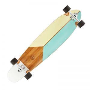 Скейтборд LONGBOARD BAMBOO OXELO 43'' (белый)