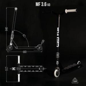 Самокат трюковой Oxelo Freestyle MF 3.6 Black (черный)