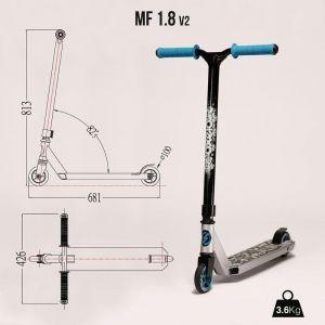 Самокат трюковой Oxelo Freestyle MF 1.8 Blue (синий)