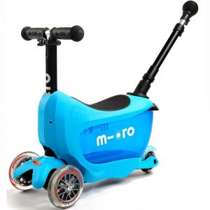 Беговел-самокат Micro Mini2Go Blue Deluxe Plus (голубой)
