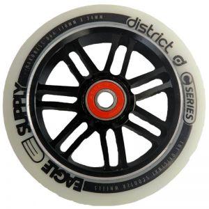 Колесо для трюкового самоката District 110 mm White on Black
