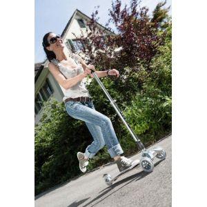 Самокат Micro Kickboard Original T+J (серебристый)