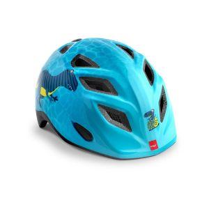 Шлем защитный Met Elfo & Genio Blue Dinosaurs Glossy (голубой)