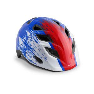 Шлем защитный Met Elfo & Genio Blue Red Hero Glossy (красный)