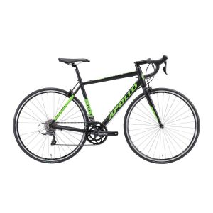 "Велосипед 28"" Apollo GIRO 10 2019 Matte Black/Green (матовый черный)"