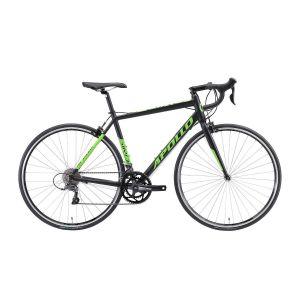 """Велосипед 28"""" Apollo GIRO 10 2018 Matte Black/Green (матовый черный)"""