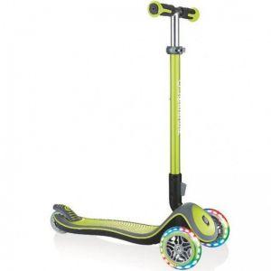 Самокат Globber Fold Up Light wheels Elite Deluxe (зеленый)