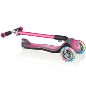 Самокат Globber Fold Up Light wheels Elite Deluxe (розовый)