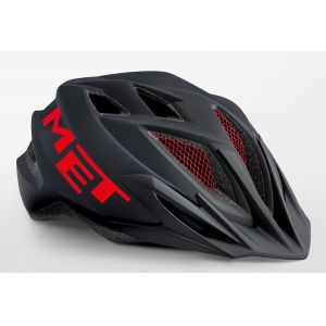 Шлем защитный Met Crackerjack black/red (черный)