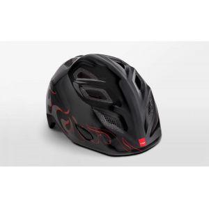 Шлем защитный Met Elfo & Genio black flames (черный)