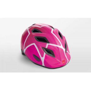 Шлем защитный Met Elfo & Genio pink stars (розовый)