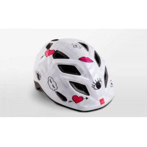 Шлем защитный Met Elfo & Genio white icons (белый)