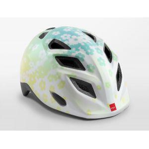 Шлем защитный Met Elfo & Genio Iridescent White Flowers Glossy (белый)