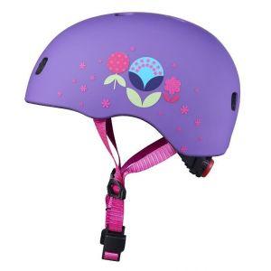 Шлем защитный Micro Floral Purple matt LED
