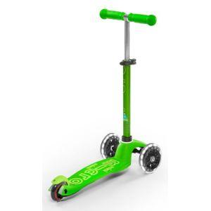 Самокат Mini Micro Deluxe Green LED (зеленый)