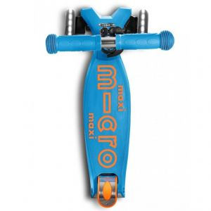 Самокат Maxi Micro Deluxe Caribbean Blue LED (голубой)