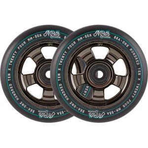 Колесо для трюкового самоката North HQ 110mm Pro Scooter Wheel Black Chrome