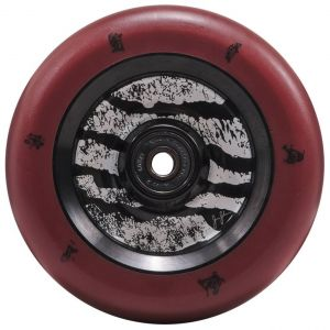 Колесо для трюкового самоката North Jonas Johnson 110mm Signature Pro Scooter Wheel (Dark Red - Matte Black)