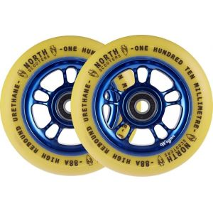 Колесо для трюкового самоката North Wagon 110mm Pro Scooter Wheel Sky Gum