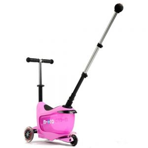 Беговел-самокат Micro Mini2Go Pink Deluxe Plus (розовый)