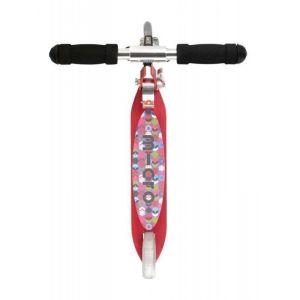 Самокат Micro Sprite Raspberry floral dot (красный)