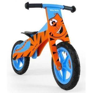 Беговел Milly Mally Duplo Tiger (оранжево-голубой)