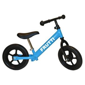 "Беговел Frutti 12"" Blueberry black wheels (голубой/черный)"