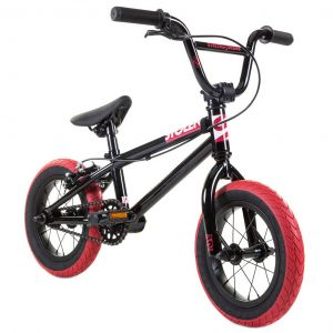"Велосипед Stolen Agent 12"" 2021 BMX Freestyle Bike (black-dark red tires)"