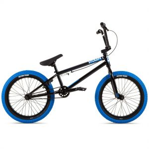 "Велосипед Stolen Agent 18"" 2021 BMX Freestyle Bike (black-dark blue tires)"