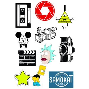 Стикеры Film and Animation sticker pack