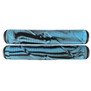Грипсы Striker Pro scooter Grips (Black/Light Blue)