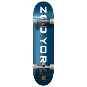 "Скейтборд Zoo York OG 95 Logo Block Complete Skateboard 31"" (Blue-White-Orange)"