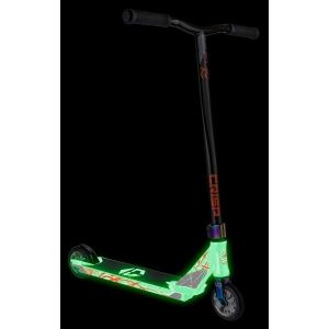 Трюковой самокат Crisp Scooters Inception Glow In The Dark White-Black Gold Metallic