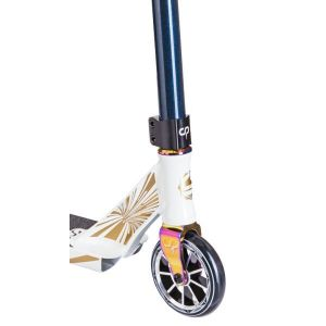 Трюковой самокат Crisp Scooters Ultima 4.5 Glow In The Dark White-Dark Blue Metallic